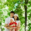 Family in nature — Stock Photo