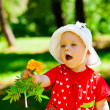 Child with flower — Foto de Stock