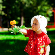 Flower in hand — Stock Photo #11530612