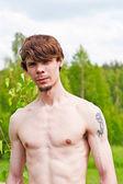 男の裸の胸 — ストック写真