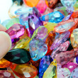 Stock Photo: Close up colorful plastic beads for background.