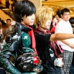 Bangkok - August 26 : An unidentified Japanese anime cosplay pose in Japan Festa in Bangkok 2012 on August 26, 2012 at Siam Paragon, Bangkok, Thailand. — Stock Photo #12409776