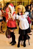 Bangkok - August 26 : An unidentified Japanese anime cosplay pose in Japan Festa in Bangkok 2012 on August 26, 2012 at Siam Paragon, Bangkok, Thailand. — Stock Photo