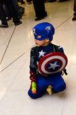 Bangkok - August 26 : Captain America cosplay pose in Japan Festa in Bangkok 2012 on August 26, 2012 at Siam Paragon, Bangkok, Thailand. — Stock Photo