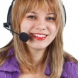 Young woman operator with headset — Stock Photo #11235885