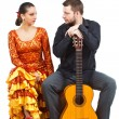 Flamenco couple — Stock Photo