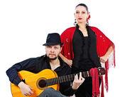 Flamenco par — Stockfoto