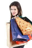 美しい女性のショッピング — ストック写真