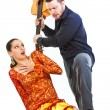 Flamenco couple quarrelling — Stock Photo