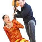 Flamenco couple quarrelling — Stock Photo