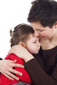 Mother and child cuddling — Stock Photo
