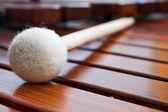 Mallet on marimba — Stock Photo