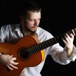 Man playing the guitar — Stock Photo