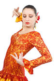 Portrait of woman flamenco dancer — Stock Photo