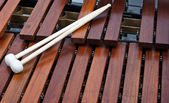 Mallets on marimba — Stock Photo