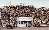 Stacked logs — Stock Photo