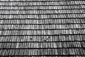 Roof section with aging wooden — Stock Photo