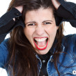 Young woman going crazy — Stock Photo