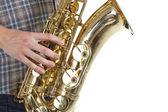 Saxophone player — Стоковое фото