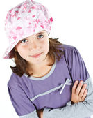 Cute girl with cap — Stock Photo