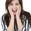 Stock Photo: Surprised beautiful woman
