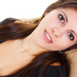 Closeup of young beauty smiling — Stock Photo
