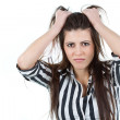 Frustrated young woman — Stock Photo