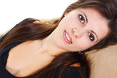 Closeup de beleza jovem sorrindo — Foto Stock