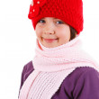 Beautiful little girl in winter outfit — Stock Photo #11671746