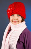 Beautiful little girl in winter outfit — Stock Photo