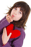 Cute girl blows kiss — Stock Photo