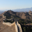Panoramic photo of the Great Wall in China. - Stock Photo