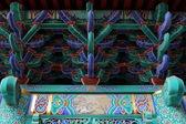 Süslemeleri bir Çinli Budist tapınağı — Stok fotoğraf