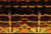 Dekorationer av kinesiska buddhistiska tempel, nattetid. — Stockfoto