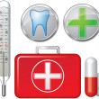 Icons fpharmaceutics, medicine, dentistry - Stock Vector