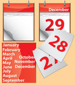 Tear-off calendar — Vettoriale Stock