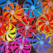 Stock Photo: Wind spinned spinner toy