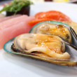 Mussel with sauce - Stock Photo