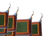Thailändska kyrkans tak — Stockfoto