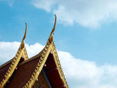 Thai temple roof — Stock fotografie