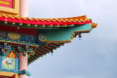 Roof chinese temple in Thailand — Stock Photo