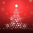 Royalty-Free Stock Photo: Christmas background, silhouette of a christmas tree