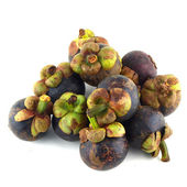 Mangosteen on white background — Stock Photo