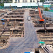 Stock Photo: Construction site of modern building