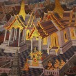 Thai art wall in temple Thailand — Stock Photo