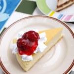 Piece of strawberries cake — Stock Photo