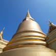Golden pagoda in Grand Palace ,Bangkok Thailand — Stock Photo