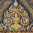 Thai art style on wall, temple in bangkok, Thailand — Stock Photo