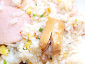 Fried rice with sausage — Stock Photo