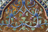 Thai art style texture on wall, temple in bangkok, Thailand — Stock Photo